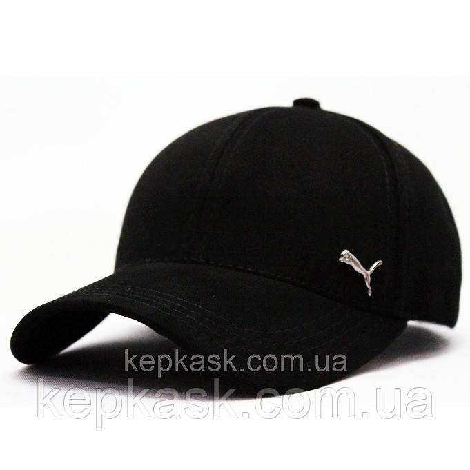 Бейсболка котон черная PUMA (ТКАНЬ-ДИАГОНАЛЬ)