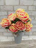 Розы искусственные для интерьера, 9 веточек, h-48см, 120 грн, фото 2