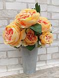 Розы искусственные для интерьера, 9 веточек, h-48см, 120 грн, фото 3