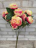 Розы искусственные для интерьера, 9 веточек, h-48см, 120 грн, фото 4