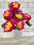 Розы искусственные для интерьера, 9 веточек, h-48см, 120 грн, фото 5