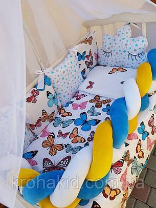 """Набор постельного белья в детскую кроватку/ манеж """"Коса"""" - Бортики / Защита в кроватку, фото 2"""