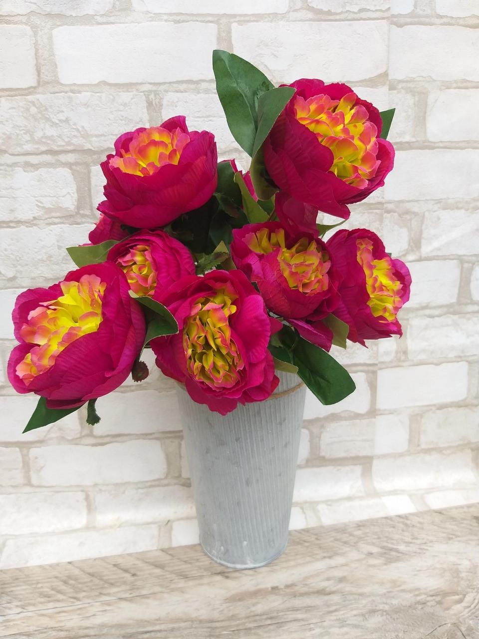 Розы искусственные для интерьера, 9 веточек, h-48см, 120 грн