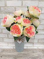 Розы искусственные для интерьера, 9 веточек, выс. 48 см., 165/145 (цена за 1 шт. + 20 гр.)