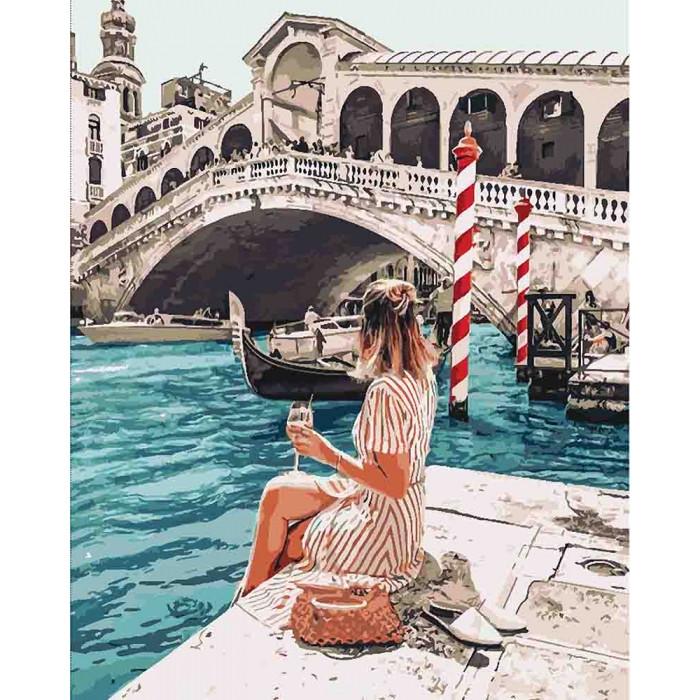 Картина по номерам Влюблена в Венецию ТМ Идейка 40 х 50 см КНО4526
