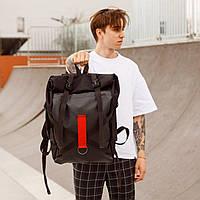"""Рюкзак черный Роллтоп для женщины и мужчины(унисекс) """"Jack"""" от украинского бренда """"ТУР"""" влагостойкий 17"""""""