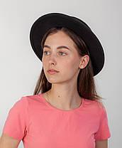 Осенняя шляпа канотье черная, фото 3