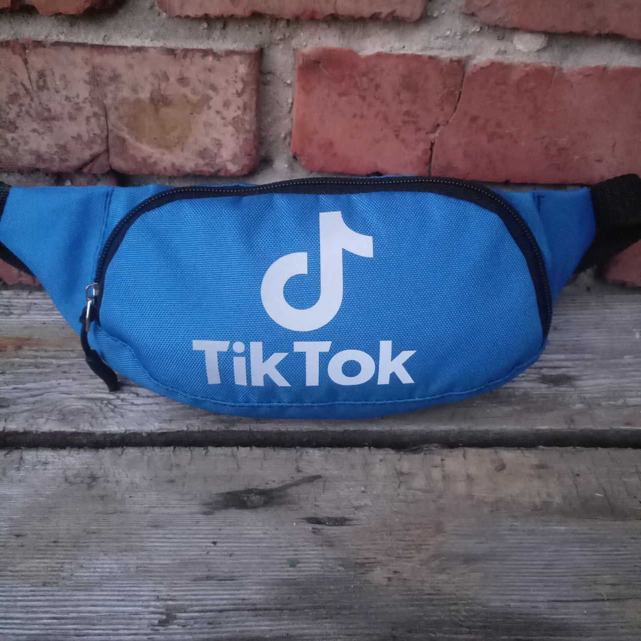 Детская сумка Tik Tok светоотражающяя, на пояс 29х12 см