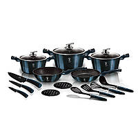 Набір посуду 17 пр ( у комплекті ножі 3 пр та кухонне приладдя 4 пр) - BH 6164 - BERLINGER HAUS