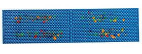 Аплікатор Ляпко 4,9 Ag Квадро розмір 106 х 460 мм голчастий килимок для хребта, спини, ніг Синій