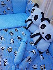 """Набір постільної білизни в дитячу ліжечко/ манеж """"Панда"""" - Бортики / Захист в ліжечко, фото 3"""
