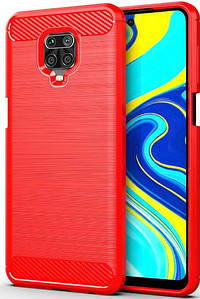 Чохол-накладка Carbon для Xiaomi Redmi Note 9 Pro / Note 9S / Note 9 Pro Max (Red)