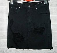 """Юбка женская джинсовая, рванка, размеры XS-XL """"PLAY"""" недорого от прямого поставщика, фото 1"""
