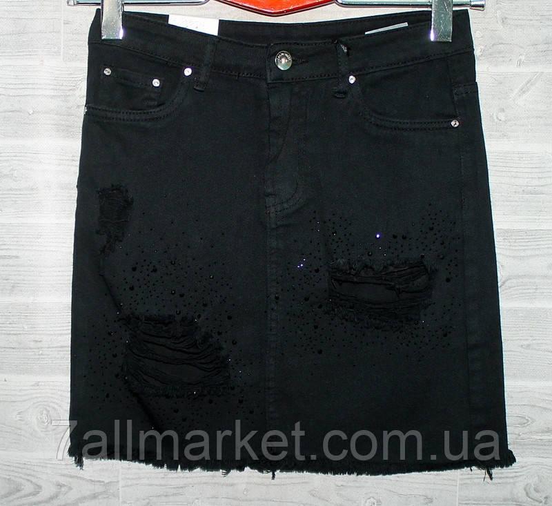 """Юбка женская джинсовая, рванка, размеры XS-XL """"PLAY"""" недорого от прямого поставщика"""
