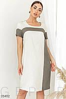 Монохромное платье прямого кроя
