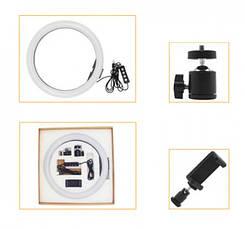 Кольцевая Led лампа 26см для селфи, фото 3