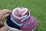 Детские высокие демисезонные кроссовки хайтопы найк Nike сиреневые, копия, фото 5