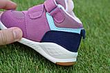 Детские высокие демисезонные кроссовки хайтопы найк Nike сиреневые, копия, фото 8