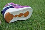 Детские высокие демисезонные кроссовки хайтопы найк Nike сиреневые, копия, фото 7