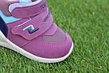 Детские высокие демисезонные кроссовки хайтопы найк Nike сиреневые, копия, фото 4