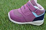 Детские высокие демисезонные кроссовки хайтопы найк Nike сиреневые, копия, фото 6