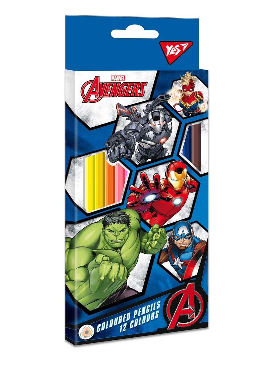 """Карандаши цветные YES 12 цв. """"Marvel"""""""