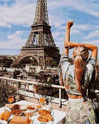 Картина по номерам Девушка Утро в Париже 40х50см Babylon Turbo