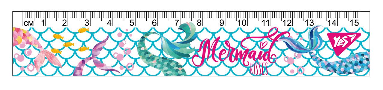 """Линейка YES 15см """"Mermaid"""""""
