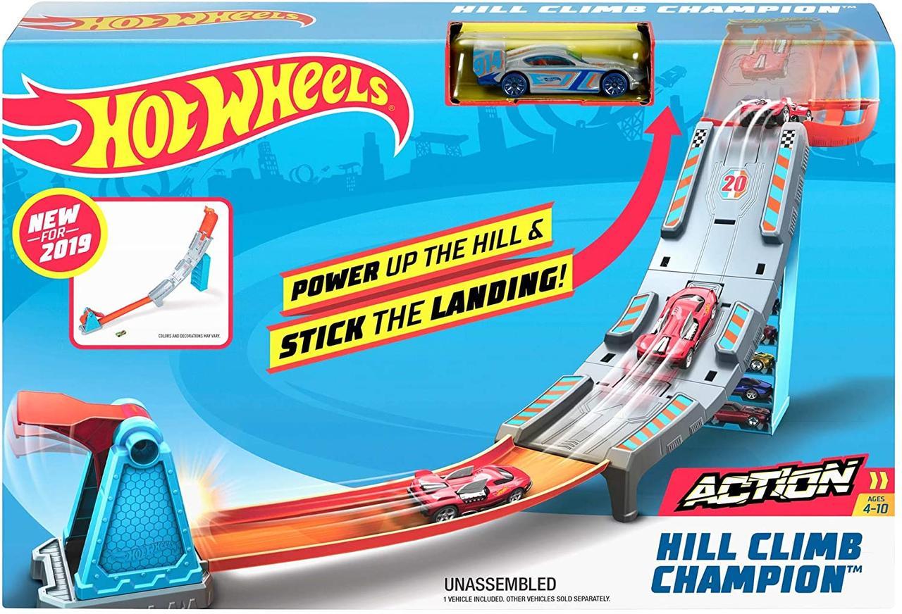 Трек Хот Вилс многоцветный набор Оригинал Hot Wheels Hill Climb Track Set, Multicolor (GBF83)