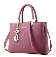 Модная женская сумка с брелком. Повседневная женская сумочка через плечо, маленькая сумка для девушек, женщин Розовый