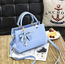 Модная женская сумка с брелком. Стильная женская сумочка через плечо эко кожа да, да, Голубой