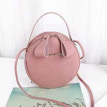 Яркая женская сумочка клатч круглая Розовый