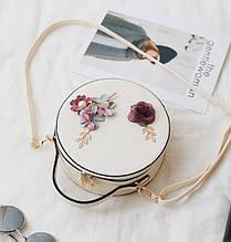 Модная женская сумочка цветы да, да, Белый