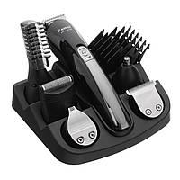 Триммер Kemei KM-600 12в1, машинка для стрижки волосэлектробритва, полный набор личного ухода.
