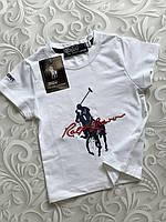 Детская белая футболка Ralph Lauren Polo
