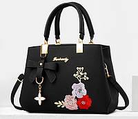 Женская сумка с вышивкой цветы