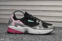 Женские кроссовки Adidas Falcon Black Pink. [Размеры в наличии: 37,38,39,40,41], фото 1