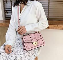 Стильная женская мини сумка клатч. Яркая маленькая женская сумочка. да, да, Розовый