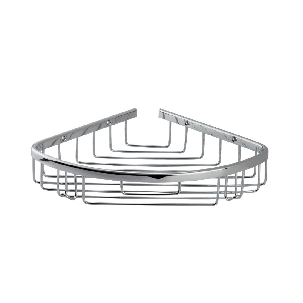 Полочка угловая Celik для ванной одинарная, латунь, решетка