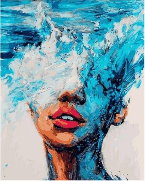 Картина по номерам Девушка Стихия воды
