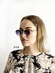Стильные солнцезащитные очки с черными линзами, фото 3