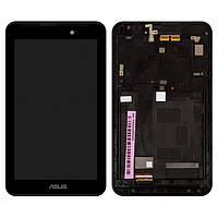 Дисплей (LCD) планшет Asus ME170 MeMO Pad 7 | FE170CG | ME170C | ME70CX | K012, с тачскрином и рамкой, чёрный