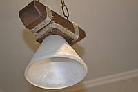 Деревянная люстра в беседку  Конус 1, фото 1