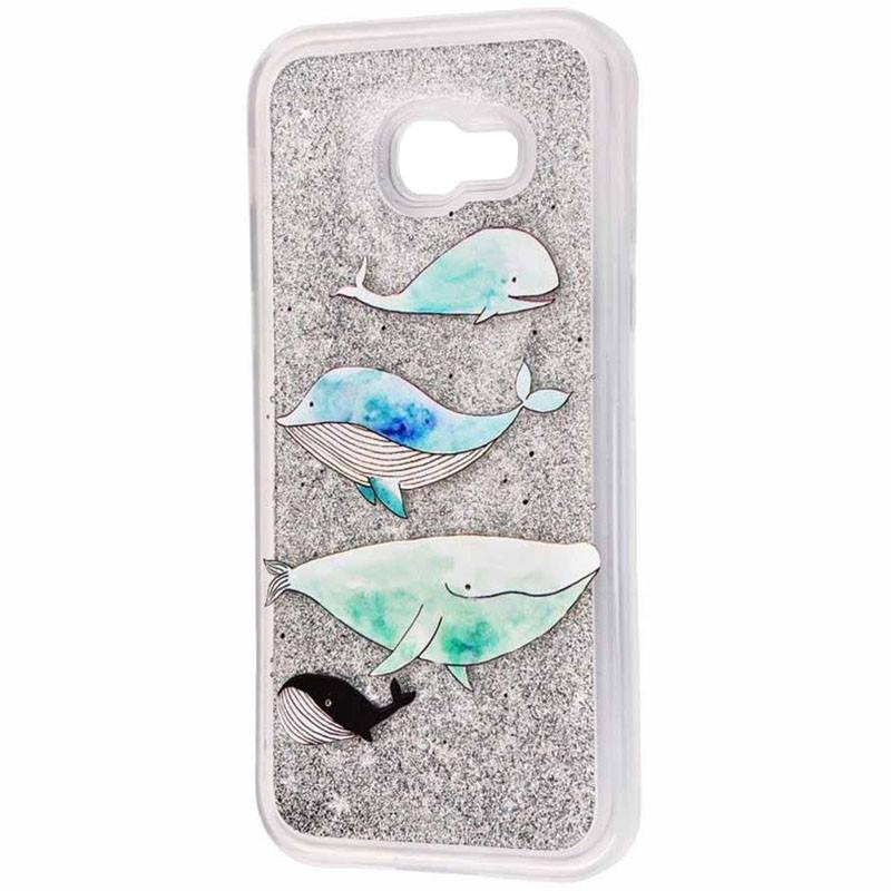 TPU+PC чехол Liquid (glitter) для Samsung A320 Galaxy A3 (2017)