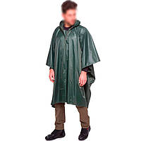 🔝 Плащ-палатка с капюшоном, PZ-TY-0548_1, тёмно-зелёный, дождевик пончо | 🎁%🚚