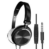 Игровая гарнитура, стерео проводные басовые наушники 3,5 мм с микрофоном для мобильного телефона, ПК, ноутбука