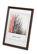 Рамка 10х15 из дерева - Дуб тёмно-коричневый 1,5 см - со стеклом