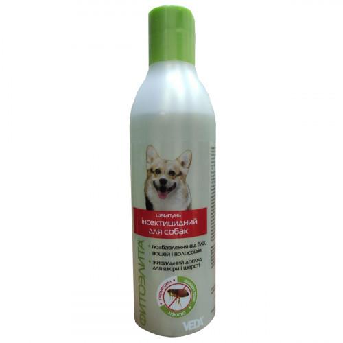 Шампунь Veda Фитоэлита інсектицидний для захисту від бліх, вошей, волосоїдів для собак, 220 мл