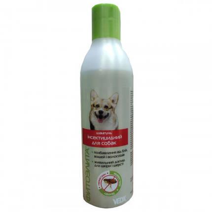 Шампунь Veda Фитоэлита інсектицидний для захисту від бліх, вошей, волосоїдів для собак, 220 мл, фото 2