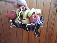 Деревянная корзинка для фруктов и сладостей | Дерев'яний кошик для фруктів ! Оригинальное оформление подарка!